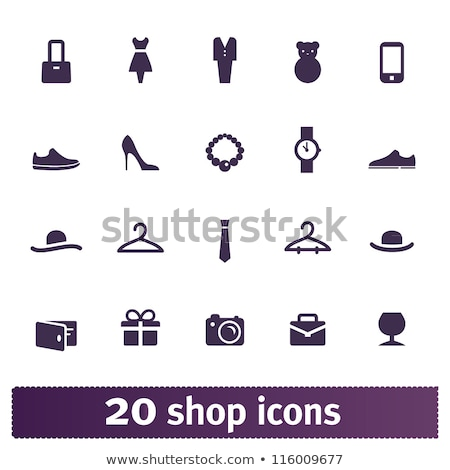 fashionable women clothes and accessories icon set stock photo © margolana