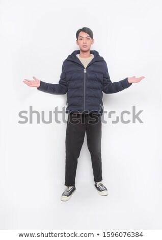 Biały krótki człowiek sukces pozytywny zestaw Zdjęcia stock © toyotoyo