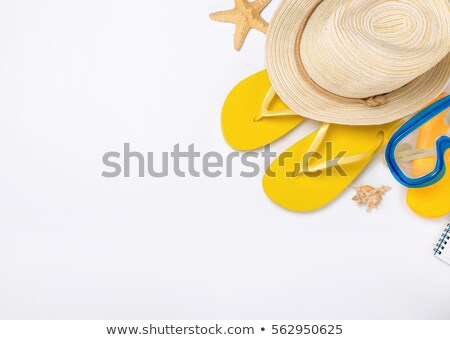 Beach accessories on white background Stock photo © magraphics