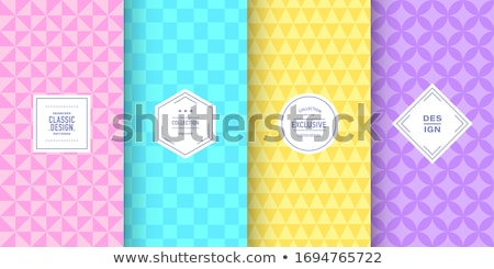 Geometry bright shapes baby blue color seamless vector pattern. stock photo © yopixart