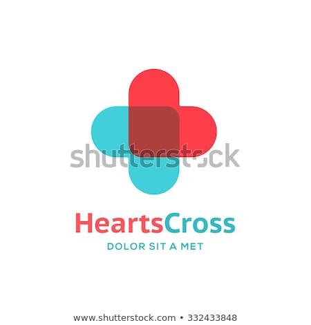 medical cross with heart Stock photo © djdarkflower
