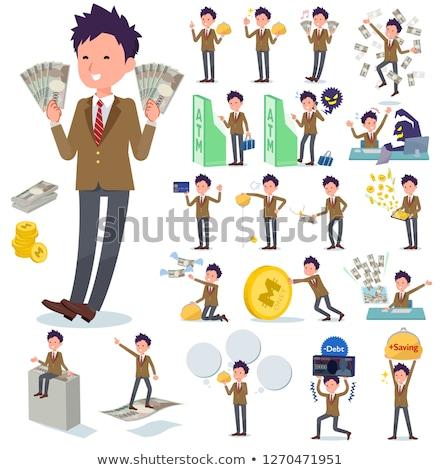 男子生徒 ブラウン ブレザー お金 セット ストックフォト © toyotoyo