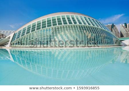 építészet Valencia légifelvétel közösség Spanyolország égbolt Stock fotó © benkrut