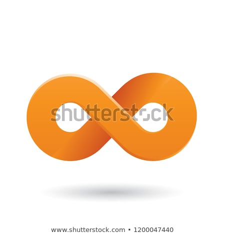 Orange Thick Infinity Symbol Vector Illustration Stock photo © cidepix