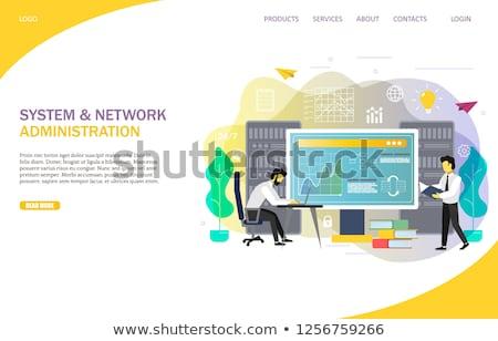 Nuvem engenharia aplicativo interface modelo revelador Foto stock © RAStudio