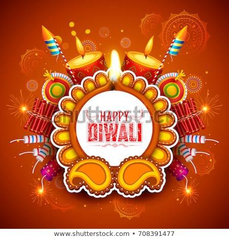 hindu diwali festival cracker background Stock photo © SArts
