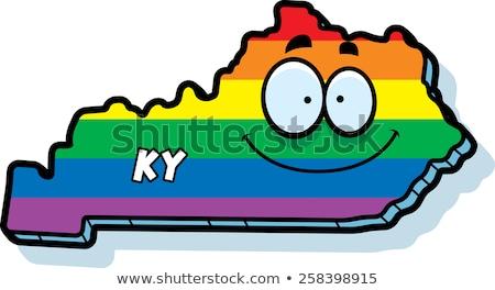 Cartoon Kentucky matrimonio gay illustrazione sorridere Rainbow Foto d'archivio © cthoman