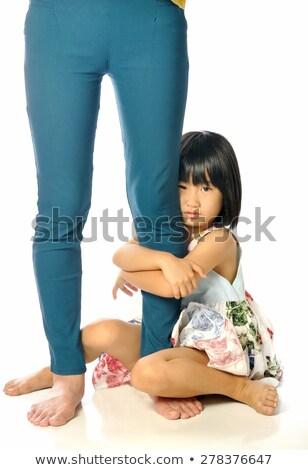 Verlegen moeders been vrolijk Stockfoto © konradbak