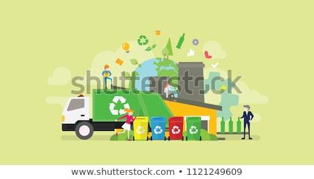 śmieci recyklingu łatwość budynku recyklingu znaki Zdjęcia stock © robuart