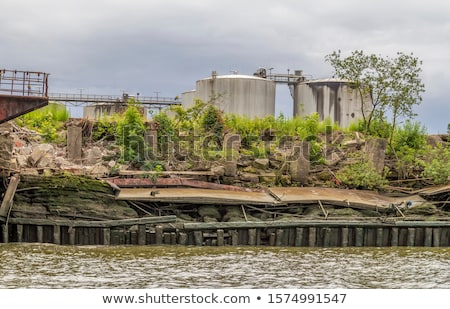 rundown industrial scenery Stock photo © prill