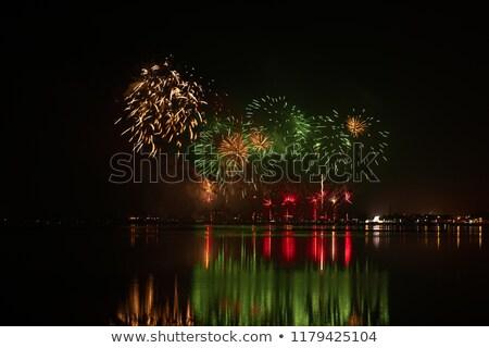 Fireworks of St Paio of Torreira Stock photo © homydesign