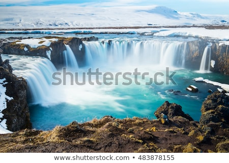 Um Islândia cachoeiras paisagem rio Foto stock © Kotenko
