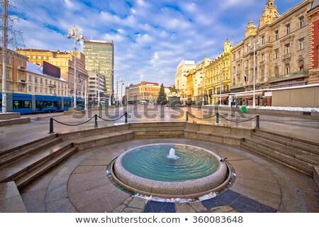 Zágráb fő- tér advent kilátás Horvátország Stock fotó © xbrchx
