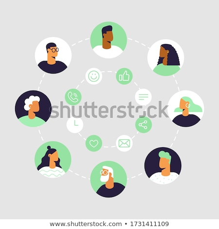 business conference   modern line design style illustration stock photo © decorwithme