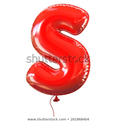 Red glossy font Letter S 3D Stock photo © djmilic