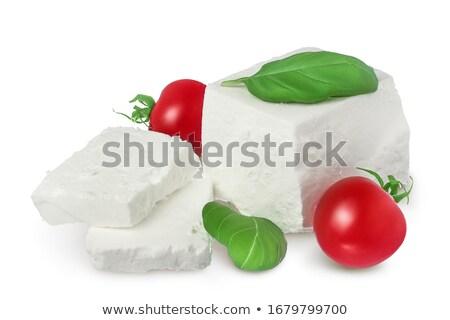 Köteg fetasajt darabok aprított puha árnyék Stock fotó © maxsol7