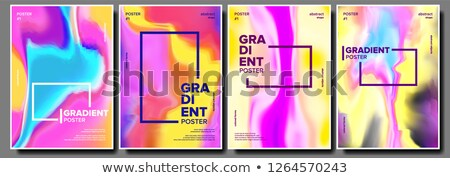 Gradient fluide affiche vecteur aurora Photo stock © pikepicture