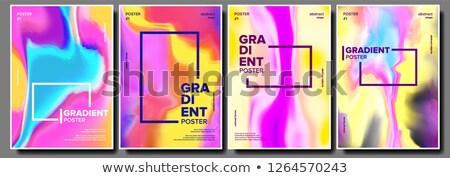 セット · ブレンド · 抽象的な · 波 · 色 · ストリーム - ストックフォト © pikepicture