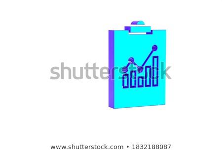 Portapapeles financiar comercialización 3D texto Foto stock © tashatuvango