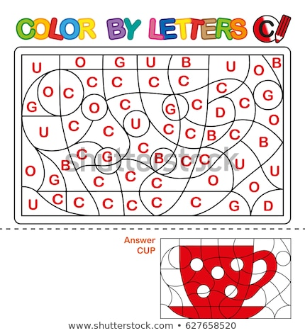 c is for educational game coloring book stock photo © izakowski