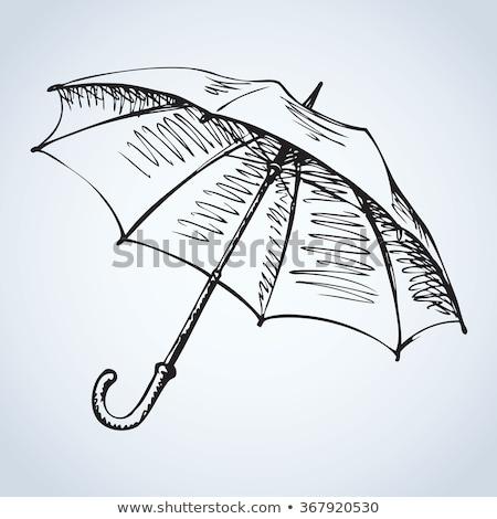 傘 手描き いたずら書き アイコン ストックフォト © RAStudio