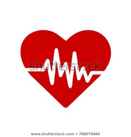 cardio · monitor · line · ikona · bicie · serca · wektora - zdjęcia stock © smoki