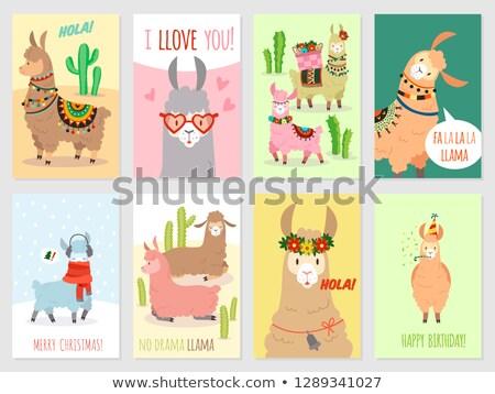 Desenho animado camelo amor ilustração sorridente gráfico Foto stock © cthoman