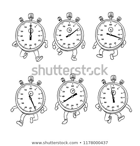 Stopwatch Running Run Cycle Drawing Sequence Stock photo © patrimonio