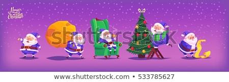 Warm wensen gelukkig vakantie briefkaart Stockfoto © robuart