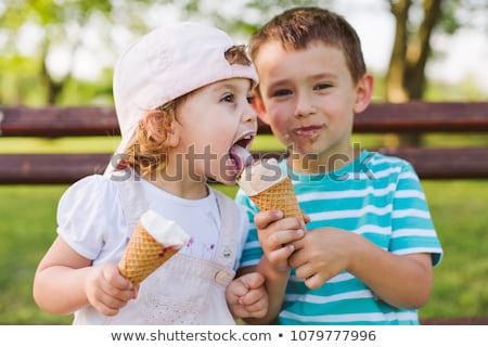 Portrait of happy brother and sister Stock photo © Kzenon