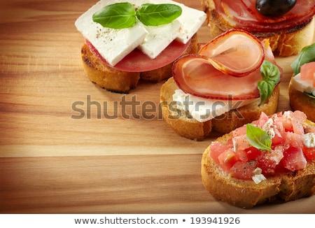 Spanyol konyha tapas főzés aprított étel kenyér Stock fotó © joannawnuk