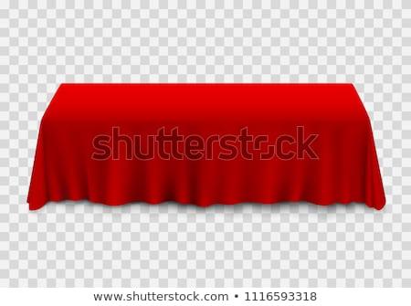 Zdjęcia stock: Wakacje · dania · tabeli · czerwony · obrus · wektora