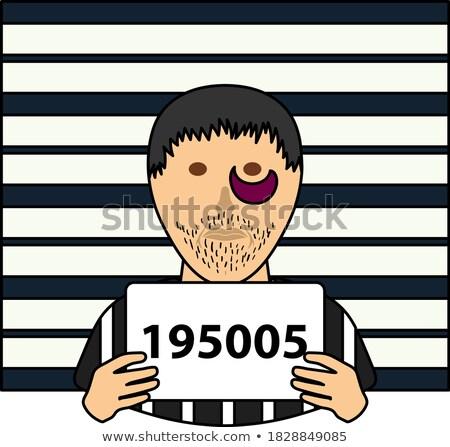 囚人 壁 規模 アイコン 色 デザイン ストックフォト © angelp