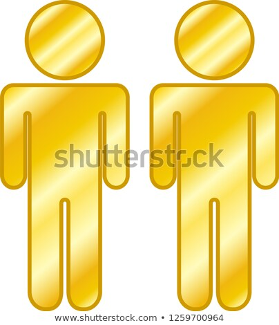 Altın insanlar siluet ikon Stok fotoğraf © Blue_daemon