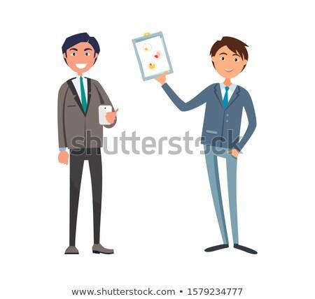 Man tonen business plan manager cel Stockfoto © robuart