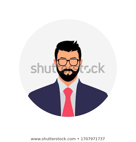 Gentleman werknemer avatar vector kunst Stockfoto © vector1st