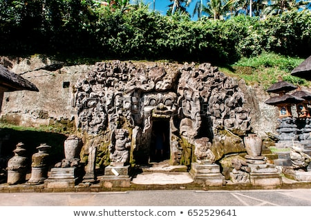 goa gajah elephant cave on bali island in indonesia stock photo © boggy