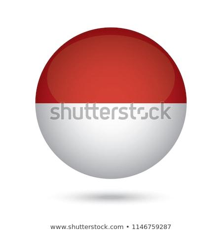 Bandiera Indonesia badge illustrazione muro design Foto d'archivio © colematt