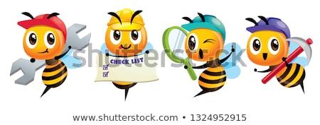 漫画 かわいい 蜂 マスコット セット ストックフォト © charactoon