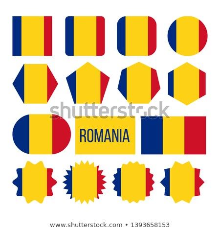 Romania Flag Collection Figure Icons Set Vector Stock photo © pikepicture