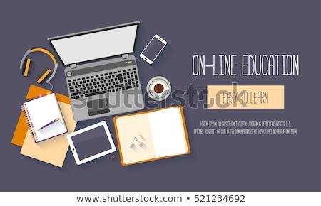 глобальный онлайн образование расстояние университета студентов Сток-фото © RAStudio