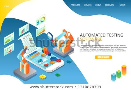 Automated testing concept landing page. Stock photo © RAStudio