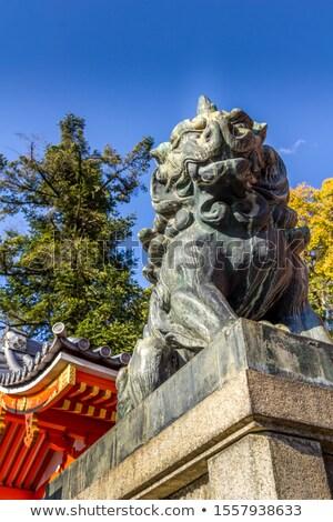 Lew posąg kyoto Japonia niebo Zdjęcia stock © daboost
