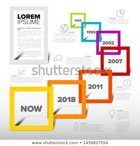 Stock fotó: Infografika · fény · idővonal · jelentés · sablon · tér