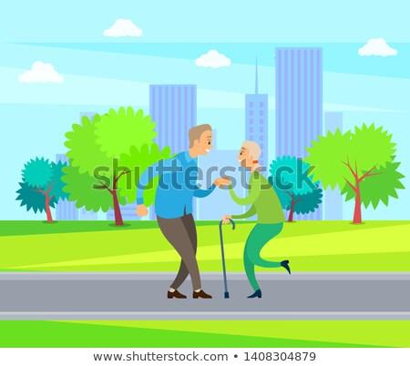 senior · volwassen · dansen · samen · liefde · man - stockfoto © robuart