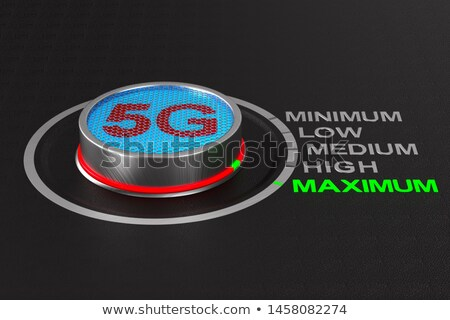 5g network button on dark background. 3D illustration Stock photo © ISerg