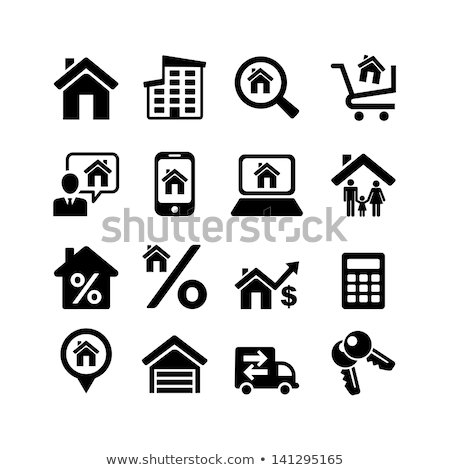 Man selecting new house on laptop at home Stock photo © AndreyPopov