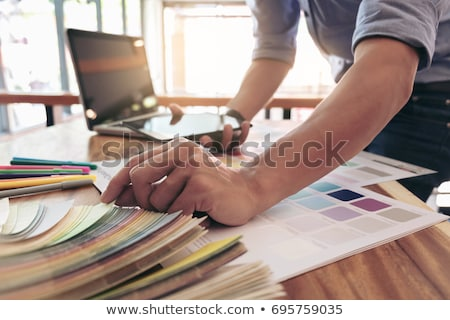 Color samples, color swatch samples, Draw architecture, Graphic  Stock photo © Freedomz
