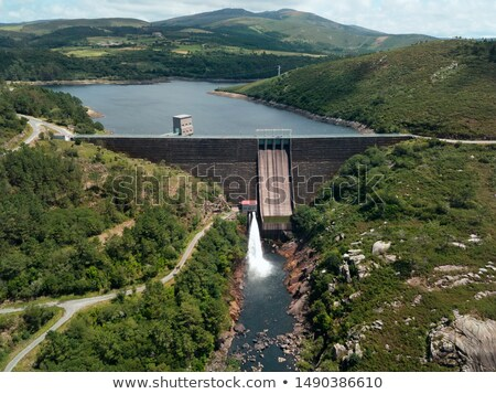 Hydroelectric Power Generation At Dam in Ezaro Spain Stock photo © diego_cervo