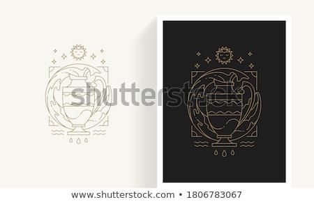 élément air zodiac signe mosaïque terre Photo stock © cidepix